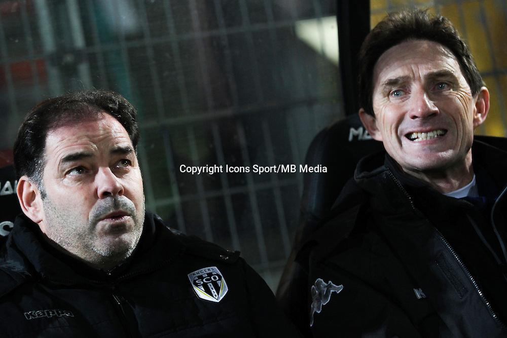 Stephane MOULIN / Serge LE DIZET  - 26.01.2015 - Angers / Brest - 21eme journee de Ligue 2 -<br /> Photo : Vincent Michel / Icon Sport