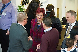 Pictured: Angela Constance<br /> <br /> Communities Secretary Angela Constance MSP visited the Grassmarket Community Project today to see how a successful social enterprise works. While she was there, Ms Constance launched the Scottish Government's social enterprise strategy.<br /> <br /> Ger Harley | EEm 14 December 2016