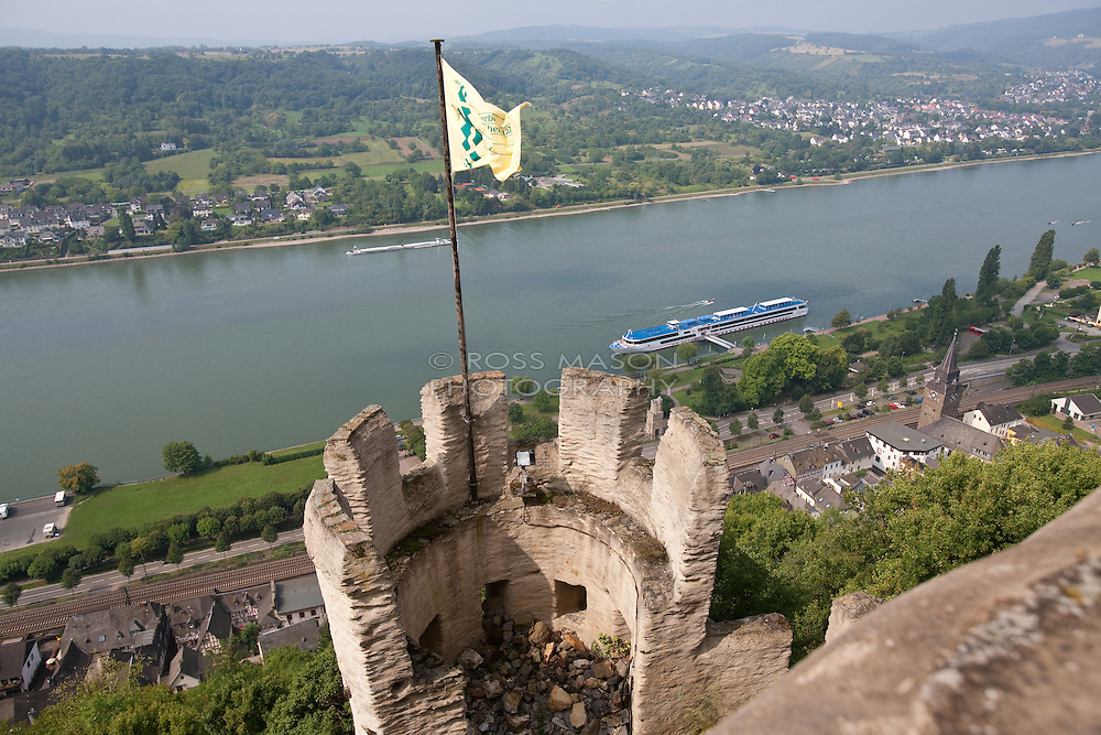Cruising up the Rhine river on the Viking ship Helvetia.