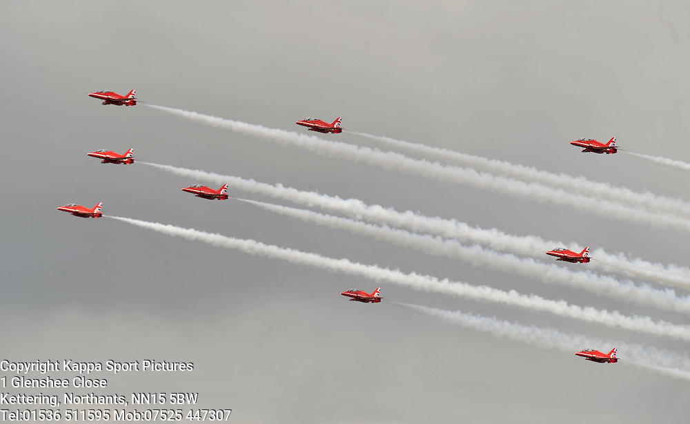 The Red Arrows, Royal International Air Tattoo, RAF Fairford, Gloustershire, 16th July 2015 Royal International Air Tattoo, RAF Fairford, Glostershire, 16th July 2015