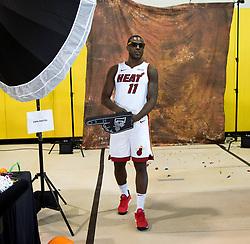 September 25, 2017 - Miami, Florida, U.S. - Miami Heat guard Dion Waiters (11) at Media Day at AmericanAirlines Arena in Miami, Florida on September 25, 2017. (Credit Image: © Allen Eyestone/The Palm Beach Post via ZUMA Wire)