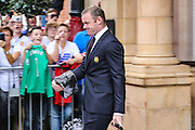 Wayne Rooney Forward of Manchester United leaves the team hotel during the FA Community Shield match between Leicester City and Manchester United at Wembley Stadium, London, England on 7 August 2016. Photo by Shane Healey.