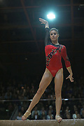 Michelle Timm, Germany, on beam during the Arthur Gander Memorial,  Morges, Switzerland on 1 November 2017. Photo by Myriam Cawston.