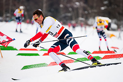 January 6, 2018 - Val Di Fiemme, ITALY - 180106 Emil Iversen of Norway competes in men's 15km mass start classic technique during Tour de Ski on January 6, 2018 in Val di Fiemme..Photo: Jon Olav Nesvold / BILDBYRN / kod JE / 160123 (Credit Image: © Jon Olav Nesvold/Bildbyran via ZUMA Wire)