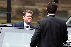 © Licensed to London News Pictures. 22/04/2016. London, UK. United States Ambassador to the United Kingdom Matthew Barzun arrives as US President Barack Obama visits 10 Downing Street for a joint press conference with British Prime Minister David Cameron. Obama is expected to make his case for the UK to remain inside the European Union, as part of his four day tour to the UK. Photo credit : Tom Nicholson/LNP