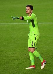 Milton Keynes Dons' goalkeeper Lee Nicolls