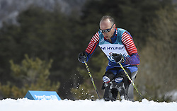 March 17, 2018 - Pyeongchang, South Korea - Andrew Soule of the US during the 7.5km Sitting Cross Country event Saturday, March 17, 2018 at the Pyeongchang Winter Paralympic Games. Photo by Mark Reis (Credit Image: © Mark Reis via ZUMA Wire)