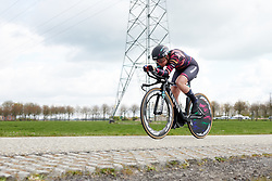 Lisa Klein (GER) at Healthy Ageing Tour 2019 - Stage 4A, a 14.4km individual time trial starting and finishing in Winsum, Netherlands on April 13, 2019. Photo by Sean Robinson/velofocus.com