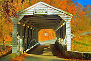Valley Forge (Knox) Covered Bridge Textured
