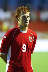 NOVI SAD, SERBIA -Tuesday, August 19th, 2003: Wales' James Collins before the UEFA Under 21 European Championship Group 9 Qualifying match against Serbia & Montenegro at the Karadorde Stadium. (Pic by David Rawcliffe/Propaganda)