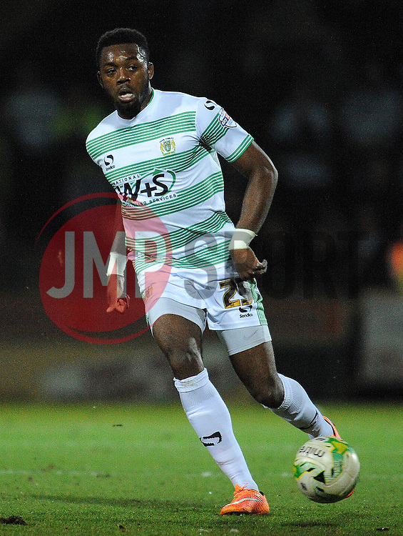 Yeovil Town's Gozie Ugwu  - Photo mandatory by-line: Harry Trump/JMP - Mobile: 07966 386802 - 10/03/15 - SPORT - Football - Sky Bet League One - Yeovil Town v Bristol City - Huish Park, Yeovil, England.