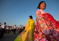 North Korean students doing ballroom dance on September 9, 2012, in Pyongyang, North Korea.