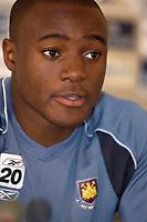 Photo: Daniel Hambury.<br />West Ham United Media Day. 10/08/2006.<br />Captain NIgel Reo-Coker meets the media.