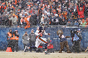 Devin Hester (23) of the Chicago Bears returns a punt against the Seattle Seahawks in the NFC Divisional Playoff game on Jan. 16, 2011 at Soldier Field in Chicago, Illinois. The Bears won 35-24. (Photo by Joe Robbins)