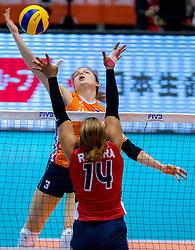 18-05-2016 JAP: OKT Nederland - Dominicaanse Republiek, Tokio<br /> Nederland is weer een stap dichterbij kwalificatie voor de Olympische Spelen. Dit dankzij een 3-0 overwinning op de Dominicaanse Republiek / Yvon Belien #3