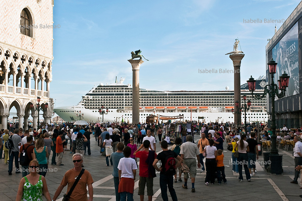 Venice, Italy, sept. 2009. Cruise in bacino San Marco viewed from San Marco Square.