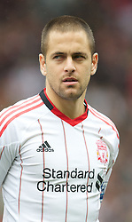 MANCHESTER, ENGLAND - Sunday, September 19, 2010: Liverpool's Joe Cole before the Premiership match against Manchester United at Old Trafford. (Photo by David Rawcliffe/Propaganda)