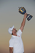 DORAL, FL - MARCH 06:  Adam Scott of Australia poses with the Gene Sarazen Cup after winning the the World Golf Championships-Cadillac Championship at Blue Monster, Trump National Doral, on March 6, 2016 in Doral, Florida. (Photo by Chris Condon/PGA TOUR)