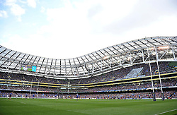 A general view of the Aviva Stadium during the match - Photo mandatory by-line: Patrick Khachfe/JMP - Mobile: 07966 386802 04/04/2015 - SPORT - RUGBY UNION - Dublin - Aviva Stadium - Leinster Rugby v Bath Rugby - European Rugby Champions Cup