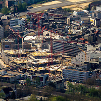 Recklinghausen Arcaden, mfi, Neues Shopping Center, Wallring, Baustelle, Luftbild: J. Gutzeit, 13.10.2013 Palais Vest,