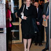 BEL/Brussel/20130319- Uitreiking Prinses Margriet Award 2013, vertrek van Prinses Astrid van Belgie