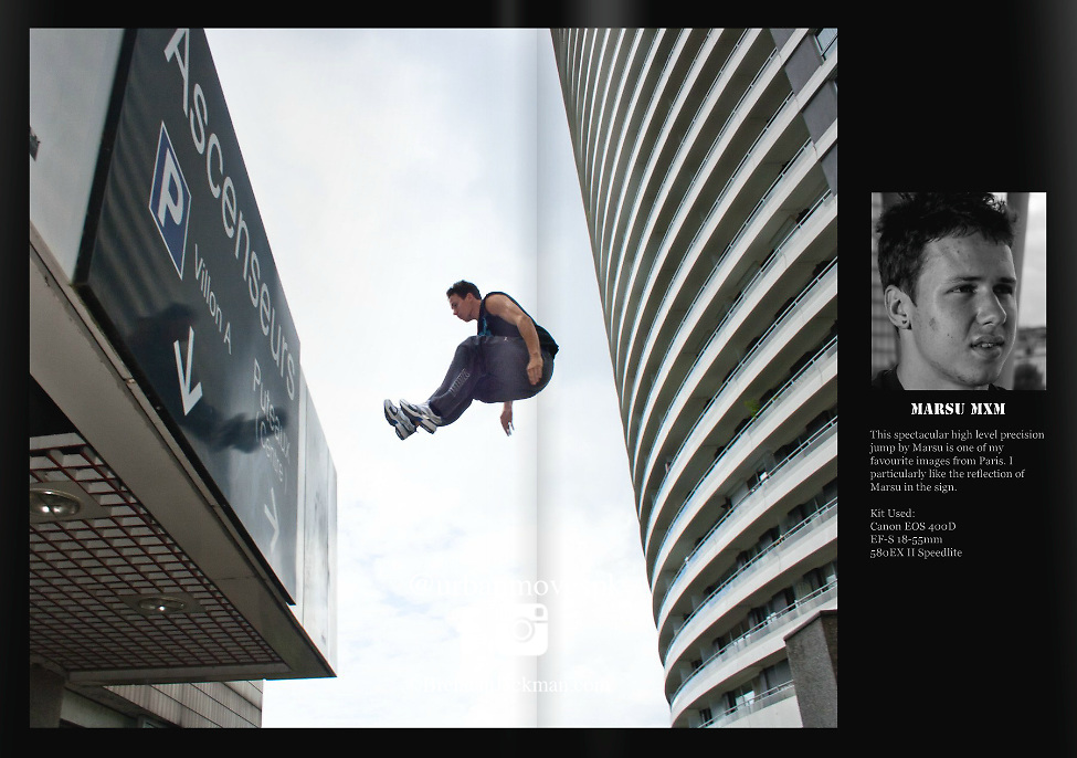 Urban Freeflow JUMP magazine article. Brendan Jackman - In the Line of Fire.