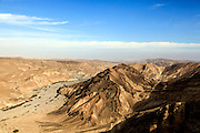 Desert Landscape with dry riverbed , Photographed in Casui, Negev, Israel