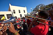 A band plays during the Festival of San Sebastian in San Juan, Puerto Rico.