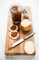 Sweet onion and bacon jam, food photography by Jonathan Gayman