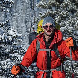 Jamie's 40th Birthday on Kemosable in the Waiparous, ice climbing with Pat Lindsay