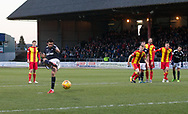 16th December 2017, Dens Park, Dundee, Scotland; Scottish Premier League football, Dundee versus Partick Thistle; Dundee's Sofien Moussa scores a penalty for 1-0
