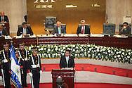 El presidente de parlamento de Gutemala Rudy Rivera estrada ofrece un discurso Viernes AGT 24, 2012 en la asamblea legislativa San Salvador, El Salvador durante una reunion de presidentes y vipresidentes de poderes legislativo de centro america y la cuenca del caribe. Foto: Franklin Rivera/fmln/Imagenes Libres.