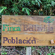At the entrance of Finca Bellavista