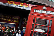 London | 09 Apr 2010<br /> <br /> Telephone booth at Madame Tussauds at Marylebone Road.<br /> <br /> &copy;peter-juelich.com<br /> <br /> [No Model Release | No Property Release]