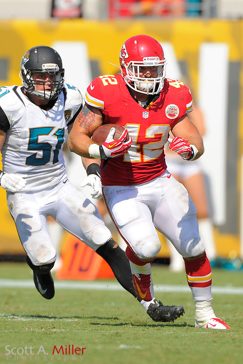 Kansas City Chiefs fullback Anthony Sherman (42) during the Chiefs 28-2 win over the Jacksonville Jaguars at EverBank Field on Sept. 8, 2013 in Jacksonville, Florida. The <br /> <br /> &copy;2013 Scott A. Miller