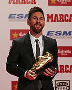 Lionel Messi Receives 'Bota de Oro' Award - 24 Nov 2017