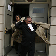 Mayor Richard Daley leaves a community event.  Photography by Jose More