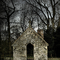 A small private chapel in a pet cemetry in the woods