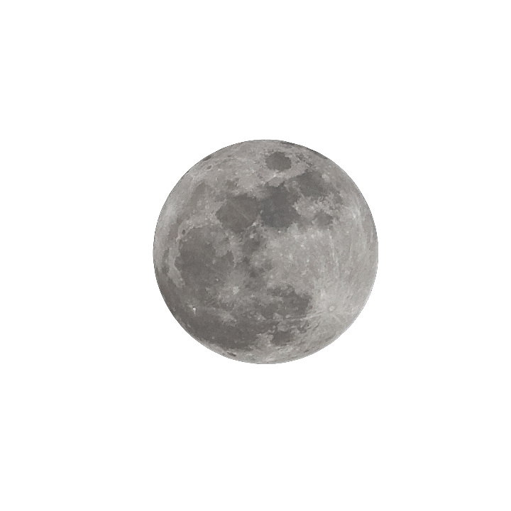 Full moon cutout,on layer
