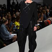 Designer Alice Honey Church showcases lastest collection of Bath Spa University at the Graduate Fashion Week 2018, 4 June 4 2018 at Truman Brewery, London, UK.