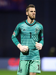 David de Gea of Spain during the UEFA Nations League football match between Croatia and Spain, on November 15, 2018, at the Maksimir Stadium in Zagreb, Croatia. Photo by Morgan Kristan / Sportida