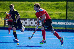 Holcombe's Iain Lewers. Holcombe v Team Bath Buccaneers - Now: Pensions Finals Weekend, Lee Valley Hockey & Tennis Centre, London, UK on 12 April 2015. Photo: Simon Parker