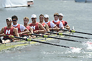 Henley, Great Britain.  The Ladies Challenge Cup. Harvard University. Henley Royal Regatta. River Thames Henley Reach.  Royal Regatta. River Thames Henley Reach.  Friday   01/07/2011  [Mandatory Credit Peter Spurrie r/ Intersport Images] 2011 Henley Royal Regatta. HOT. Great Britain . HRR