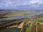 Nederland, Zuid-Holland, Dordrecht, 25-02-2020; Oostelijke ingang HSL-tunnel onder de Dordtsche Kil, gezien naar de Hoeksche Waard. Parallel aan het water de A16 naar Dordrecht.<br /> Eastern entrance HSL tunnel under the Dordtsche Kil, seen towards the Hoeksche Waard. <br /> luchtfoto (toeslag op standard tarieven);<br /> aerial photo (additional fee required)<br /> copyright © 2020 foto/photo Siebe Swart