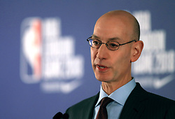 NBA Commissioner Adam Silver chairs a press conference before the NBA London Game 2018 at the O2 Arena, London. PRESS ASSOCIATION Photo. Picture date: Thursday January 11, 2018. See PA story BASKETBALL London. Photo credit should read: Simon Cooper/PA Wire. RESTRICTIONS: Editorial use only, No commercial use without prior permission