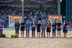 Prizegivings party, De Vos Ingmar<br /> European Championship Dressage<br /> Rotterdam 2019<br /> © Hippo Foto - Dirk Caremans