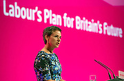 © Licensed to London News Pictures. 23/09/2014. Manchester, UK. Mary Creagh.  Labour Party Conference 2014 at the Manchester Convention Centre today 23 September 2014. Photo credit : Stephen Simpson/LNP