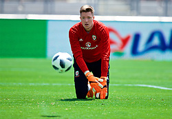 LOS ANGELES, USA - Sunday, May 27, 2018: Wales' goalkeeper Wayne Hennessey during a training session at the Rose Bowl ahead of the International friendly match against Mexico. (Pic by David Rawcliffe/Propaganda)