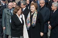 2013/03/23 Roma, funerali del Capo della Polizia. Nella foto Paola Severino, Anna Maria Cancellieri.<br /> Rome, Chief of Police funerals. In the picture Paola Severino, Anna Maria Cancellieri - &copy; PIERPAOLO SCAVUZZO
