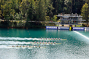 Bled, SLOVENIA. GBR M8+,  winning their semi final to go through to the  Men's eights final, [Day Four] at the  2011 FISA World Rowing Championships, Lake Bled. Wednesday  31/08/2011  [Mandatory Credit; Peter Spurrier/ Intersport Images] Crew. Bow Nathaniel REILLY-O'DONNELL, Cameron NICOL, James FOAD